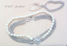 """Item no.: GSN012-RH  CLASP WITH C.Z. STONE COLOR: SILVER (WITH RHODIUM PLATING)  POPCORN PEARL COLOR: CREAM  NECKLACE SIZE: 16"""" BRACELET SIZE: 7.5"""""""