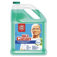 Mr. Clean Multipurpose Cleaning Solution with Febreze 128-ounce Bottle Meadows & Rain Scent 4/Carton