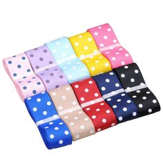 SURKER 10 Pcs DIY Child Round Dot Hair Essential Ribbon HA01300(10) >>> More info could be found at the image url.