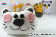 Artesanato em feltro: chaveiros com moldes | Drika Artesanato - O seu Blog de Artesanato.