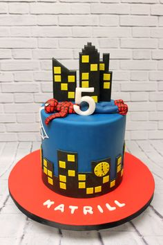 Even Spiderman himself was tired out from this big birthday bash! Birthday Bash, Birthday Cakes, Birthday Parties, Man Party, Custom Cakes, Cake Art, How To Make Cake, Mj, Showers