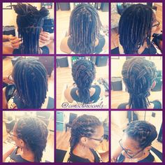 Style: Loc Retight (interlocks) and style (basketweave) Client's Hair Type: 4b/c Hair Added: NA Products Used: Coiled! by Conscious Coils (Original Refresher Spray)  Time: 1hr 47mins Style Duration: Retight every 6-7weeks  #consciouscoils #consciouscoilssalon