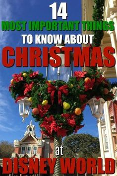Headed to Walt Disney World for Christmas? From parties to park hours, here are the 14 most important things to know about Christmas at Walt Disney World! Related posts:Perfect Places to Poop at Disney World Voyage Disney World, Disney World Christmas, Mickey Christmas, Disney World Florida, Disney World Parks, Christmas Travel, Christmas Vacation, Disney Holidays, Disneyworld At Christmas