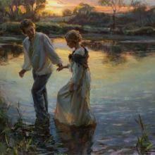 A arte do Pintor Daniel Gerhartz Romantic Paintings, Beautiful Paintings, Romantic Artwork, Russian Painting, Figure Painting, Painting Gallery, Art Gallery, Romance Arte, Art Romantique