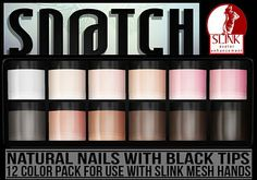 Sn@tch Nails-Natural Black Tips Vendor Ad LG | Flickr - Photo Sharing!