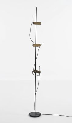 Tito Agnoli; Brass and Enameled Metal 'Pierre' Floor Lamp, 1954.