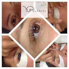 Natural lashes lifted and tinted lasting 4-6 weeks