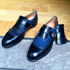 Barbanera Gatsby Denim Men's Shoes, Shoe Boots, Dress Shoes, Shoes Men, Dress Clothes, Men Boots, Shoes Sneakers, Wingtip Shoes, Custom Design Shoes