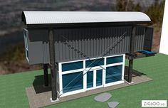 Fave Zigloo design: The Shipping Container. Note the curved roof again.