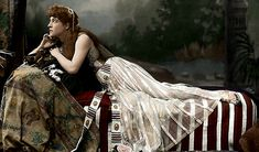 """A wonderfully colorized series of photographs of Lily in the role Cleopatra from Shakespeare's """"Anthony and Cleopatra"""""""