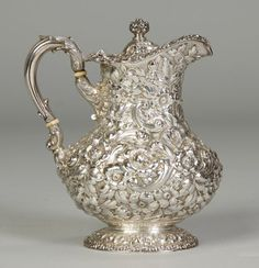 Dominick & Haff Sterling Silver Repousse Teapot