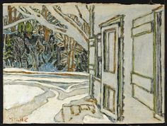 on David Milne Canadian Painters, Canadian Artists, David Milne, Vancouver Art Gallery, Canada Images, Painting Snow, Autumn Art, Watercolor Techniques, Landscape Paintings