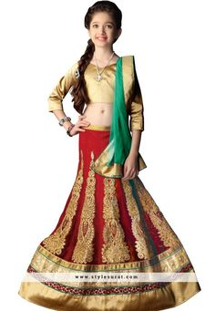 Stylish Indian little kids special latest lycra ethnic wear baby girls lehenga choli online with cash on delivery. Get zardoshi work, embroidery work trendy ghagra choli for small girls in low cost. More: Any Query: Call Kids Lehenga Choli, Lehenga Choli Online, Sarees Online, Ghagra Choli, Baby Girl Lehenga, Lehenga Style, Half Saree, Work Fashion, Fashion Ideas