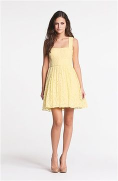 Way-In Cross Back Lace Dress (Juniors) | Nordstrom
