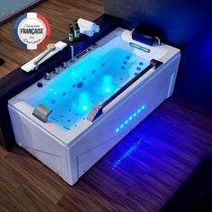 G-Cleveland Baignoire Balnéo rectangulaire whirlpool 46 jets.Stimulez votre circulation sanguine en profitant des bienfaits de la balnéothérapie tranquillement installé dans votre salle de bain grâce à notre large gamme de baignoires balnéo. #baignoire #balnéo #salledebain