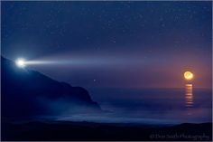 Don Smith Photography   -    Image captured on a clear evening last month along the Big Sur Coast across from the Pt. Sur Lightstation.