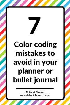 7 Color coding mistakes to avoid in your planner or bullet journal - All About Planners