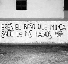 Eres el beso que nunca salió de mis labios... You are the kiss that never went out from my lips...