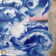 Goddess of Water, Oceans and Shining Seas Creative Office Decor, Ocean Habitat, Ocean Home Decor, Ocean Life, Ocean Art, Nature Decor, What Is Like, Goddess Art, Fine Art Prints