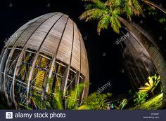 Tjibaou Cultural Center (by architect Renzo Piano), Noumea, Grand Terre, New Caledonia Stock Photo