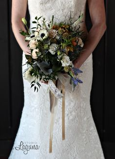 natural bouquet designed by Sadie's Couture Floral Design for primitive Norwegian wedding inspiration shoot image by Studio Laguna Photography