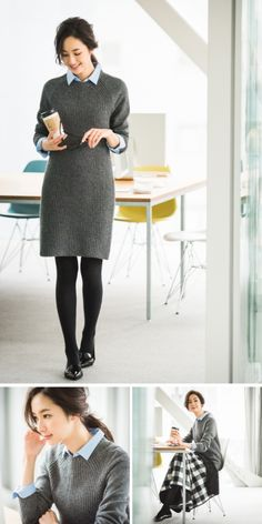 body con minimalist dress for layering Office Fashion, Business Fashion, Work Fashion, Fashion Outfits, Fashion Women, Minimalist Dresses, Minimalist Fashion, Japanese Fashion, Korean Fashion