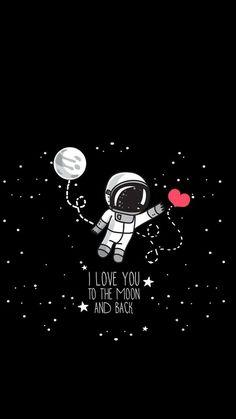 samsung wallpaper illustration Love you! Black Wallpaper, Galaxy Wallpaper, Screen Wallpaper, Iphone Wallpaper, Wallpaper Backgrounds, Love Dream, Galaxy Art, Love You, My Love