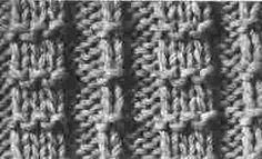 Encyclopédie des points de tricot. LE POINT  Cotes Piquees