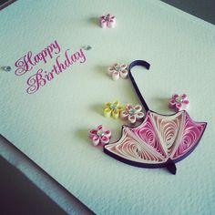 Quilling Birthday Cards, Paper Quilling Cards, Paper Quilling Jewelry, Origami And Quilling, Paper Quilling Patterns, Quilled Paper Art, Arte Quilling, Quilling Paper Craft, Quilling Flowers Tutorial
