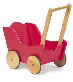 DOLL'S TRADITIONAL TOY RED WOODEN PRAM DISCOUNTED PRICE GIRLIE GIFT KIRKINTILLOCH - Toys Extra   Toys Glasgow/Wooden Toys/Games Workshop/War...