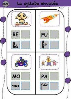 syllabe envollée French Songs, French Immersion, Teacher Hacks, Kids Education, Phonics, Literacy, Kindergarten, Classroom, Teaching