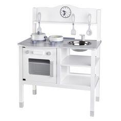 Holz Spielküche inkl. Zubehör weiß/grau 68cm