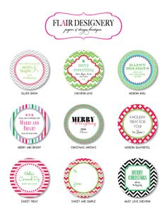 Personalized Holiday Stickers Labels or Tags  by FlairDesigneryLLC, $24.00
