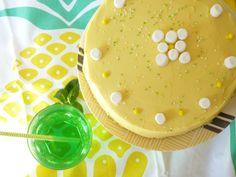 Funfetti lemon layer cake, un beau gâteau au citron pour le premier anniversaire de la