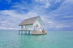 [Trending] Overwater Wedding Pavilion With Glass Aisle Opens In Maldives
