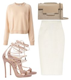 """Untitled #3180"" by evalentina92 ❤ liked on Polyvore featuring Roland Mouret, T By Alexander Wang, Dsquared2 and AERIN"