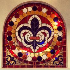 Fleur De Lis Stain Glass Window