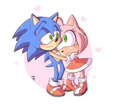 Prize for More Sonamy! I wanted to draw them with Amy's head on Sonic's chest, but when you draw them with a head the size of a planet, it's kind of hard to make that work ;w; I hope you like it! S...