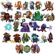 24 Chibi Heroes
