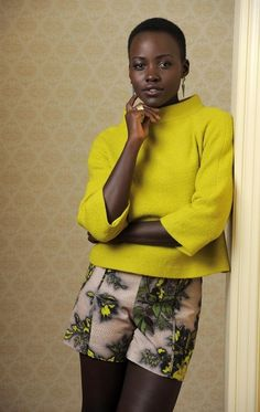 How about these boss shorts? | 22 Times Lupita Nyong'o Proved She's A Flawless Fashion Genius