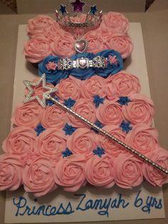 Number 3 Princess cupcake cake and smash cake SARITAS SWEETS