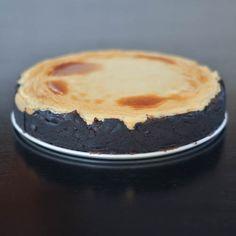 brownie bottomed cheesecake via @spabettie