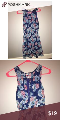 Flower power Has elastic waist and a low back. Great condition Fun and Flirt Dresses Backless