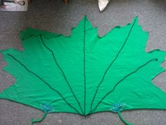 Forest Folk leaf cloak made for youngest by Pippa Jay