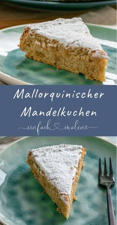 The secret to the incredibly juicy & light Mallorcan almond cake . - The secret to the incredibly juicy & light Mallorcan almond cake without flour is egg whites. This makes the almond cake particularly fluffy and it tastes so delicious of marzipan! Healthy Dessert Recipes, Smoothie Recipes, Baking Recipes, Cookie Recipes, Pastry Recipes, Food Cakes, Almond Cakes, Fabulous Foods, Holiday Desserts