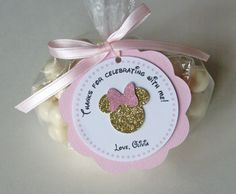 Gold and Pink Minnie Favor Tags Minnie Mouse by ThePartyPaperFairy