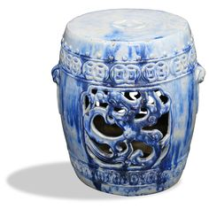 (Chinafurnitureonline.com) Hand Crafted Ceramic Temple Garden Stool