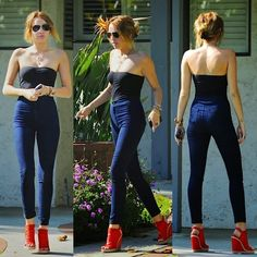 Miley Cyrus in American Apparel Jeans - Denimology Miley Cyrus 2012, Miley Cyrus Style, Miley Cyrus Body, Trend Fashion, Look Fashion, Jeans Fashion, Fashion Beauty, High Jeans, High Waist Jeans
