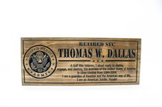 Military Sign-US Army-Navy Sign-Custom sign-Personalized Wood   Etsy Army & Navy, Us Army, Military Signs, Veterans Day Gifts, Deployment Gifts, Personalized Wood Signs, Gifts For Father, American Soldiers, Way Of Life