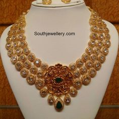 Antique Uncut and Polki Necklace